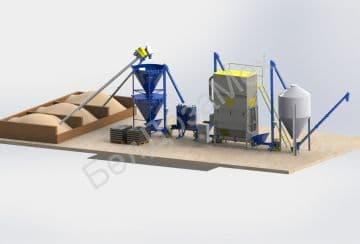 Мини-комбикормовый завод, комплектация 2